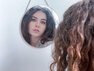 in mirror
